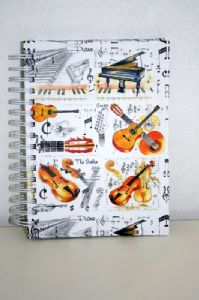 Musical Themed A6 Note Book.